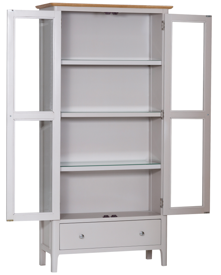 Freya Painted Oak Display Cabinet With Lights