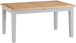 Pippa Painted 1.6 Butterfly Extending Table With Lime- Washed Oak Top- Grey