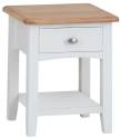 Rosie Painted Oak 1 Drawer Lamp Table