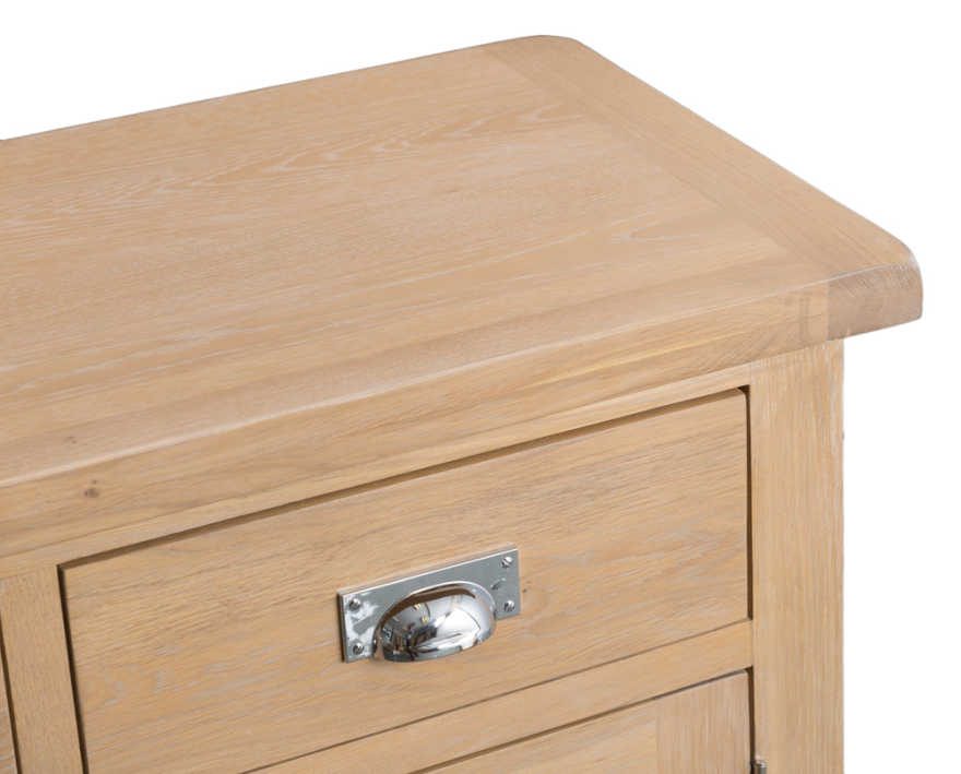 Belle Lime-Washed Oak 3 Door Sideboard