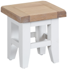 Pippa Grey/ White Painted Nest Of 3 Tables With Lime- Washed Oak Top