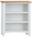 Rosie Painted Oak Small Wide Bookcase- White