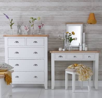 Blue Lagoon Furniture Pippa Painted Oak Bedroom Collections