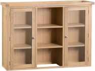 Belle Lime- Washed Oak Large Dresser Top With Glass Doors