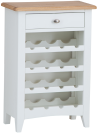 Rosie Painted Oak Wine Cabinet- White