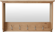 Rosie Oak Hall Bench Top With Mirror