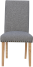 Studded Fabric Dining Chair- Light Grey