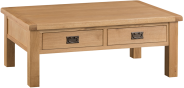 Belle Oak Large Coffee Table With Drawers