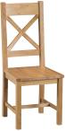 Belle Oak Cross Back Chair Wooden Seat