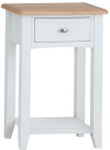 Rosie Painted Oak Telephone Table- White