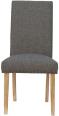 Studded Fabric Dining Chair- Dark Grey