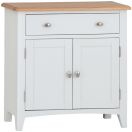 Rosie Painted Oak Small Sideboard- White