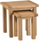 Belle Oak Nest Of 2 Tables