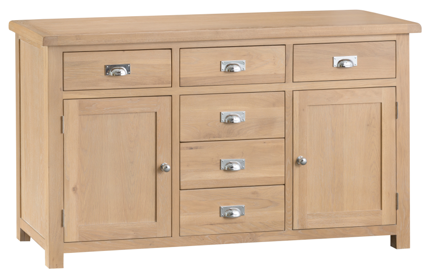 Oak 2 Door 6 Drawer Sideboard