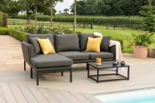 Pulse Chaise Sofa Set- Charcoal