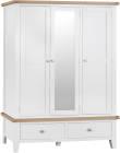 Pippa Large 3 Door Wardrobe With Mirror