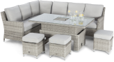 Oxford Corner Dining Set With Rising Table And Ice Bucket