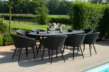 Ambition 8 Seater Oval Dining- Charcoal
