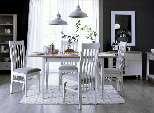 Blue Lagoon Furniture Freya Painted Oak Living And Dining Collection