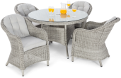 Cambridge 4 Seat Round Dining Set