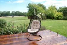 Malibu Hanging Chair- Brown/ Grey