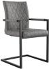 Diamond Stitch Carver Chair- Grey