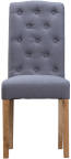 Button Back Chair- Grey