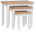 Rosie Painted Oak Nest Of 3 Tables- White