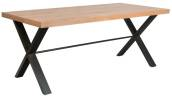 Florence Industrial 1.3m Fixed Top Dining Table