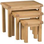Belle Oak Nest Of 3 Tables