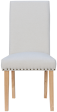 Studded Fabric Dining Chair- Natural