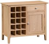 Freya Oak Wine Cabinet