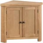 Belle Oak Corner Cupboard