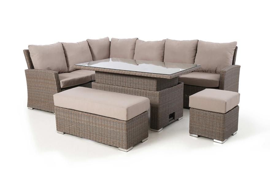 Harrogate Rectangular Corner Dining With Rising Table