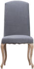 Luxury Chair With Studs And Carved Oak Legs Grey