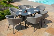 Ambition 6 Seater Oval Dining- Flanelle