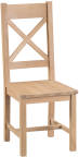Belle Lime- Washed Oak Cross Back Chair Wooden Seat