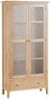 Freya Oak Display Cabinet With Lights