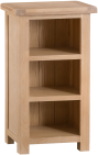 Belle Lime- Washed Oak Narrow Bookcase