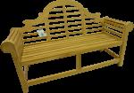 Solid Teak Marlborough/ Lutyens- Style Bench