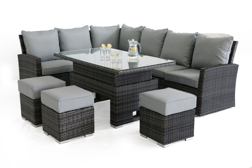 Kingston Corner Dining Set With Rising Table