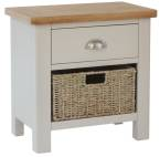 Isabella Painted 1 Drawer Unit With 1 Wicker Baskets