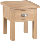 Belle Lime- Washed Oak Lamp Table