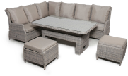 Cotswold Reclining Corner Sofa Dining Set With Rising Table