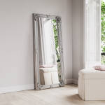 Large Decorative Mirror Available In Silver or White Frame (MIR05- LNR)