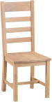 Belle Lime- Washed Oak Ladder Back Chair Wooden Seat