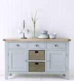 Pippa Grey With Oak Top