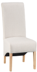 Scroll Back Fabric Chair- Cappuccino