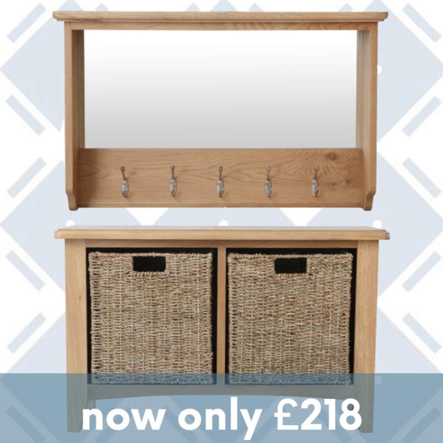 Rosie Oak Hall Bench And Top