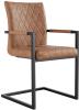 Diamond Stitch Carver Chair- Tan